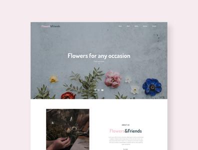 Flowers&Friends - Florist portfolio landing page
