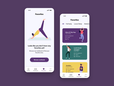 Daily UI 044 - Favorites fitness app favorites favorite ux ui  ux design app design daily ui challenge ui ui design daily ui dailyui044 dailyui dailyuichallenge