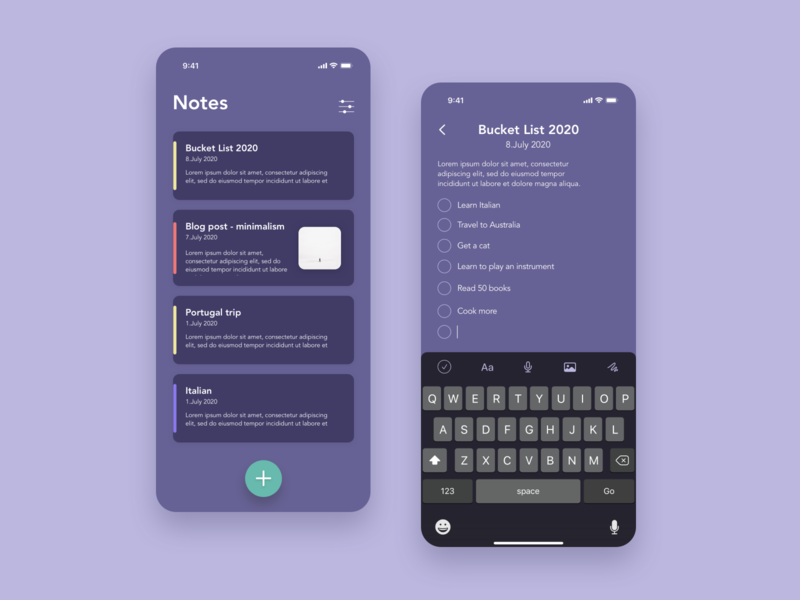 Daily UI 065 - Notes Widget notes app notes daily ui 065 app design minimalistic ui  ux daily ui challenge daily ui dailyuichallenge dailyui design ui ui design