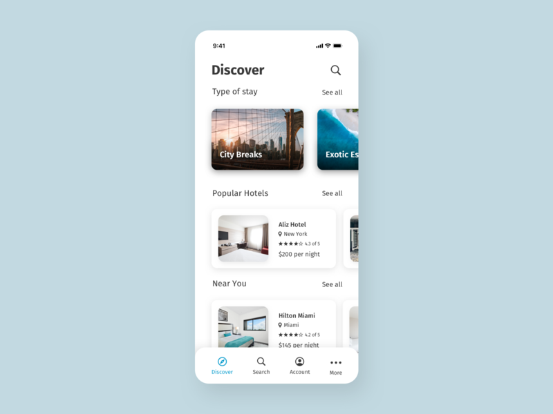 Daily UI 067 - Hotel booking hotel booking app hotel booking app design minimalistic design ui ui design daily ui 067 daily ui challenge daily ui dailyuichallenge dailyui