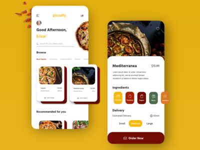Pizzafly - pizza delivery app