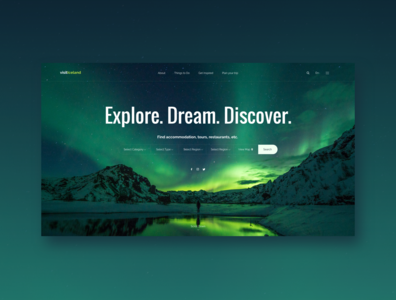 Iceland Tourism - Landing Page