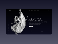 Dance academy - landing page concept
