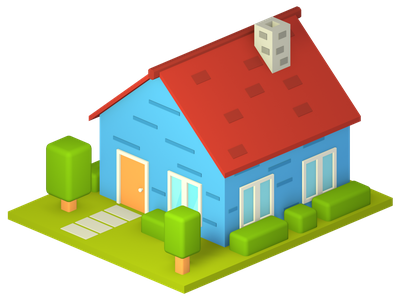 Home, part of my open source illustration pack home open source design illustration render isometric lowpoly blender 3d
