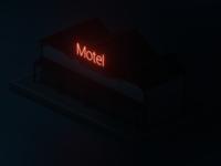 Night lowpoly motel