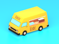 Lowpoly CoffeeBus