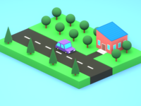 Simple lowpoly illsutration
