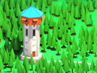 Lowpoly random tower