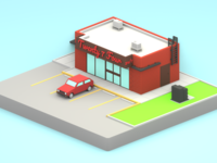 Lowpoly 24/7 market version 2