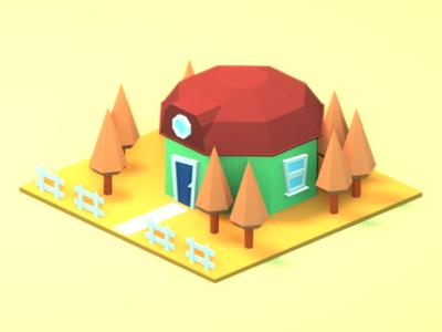 Random lowpoly house №2