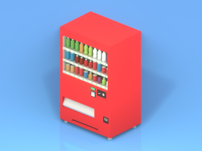Lowpoly Japanese vending machine