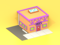 Lowpoly Moe's bar of The Simpsons