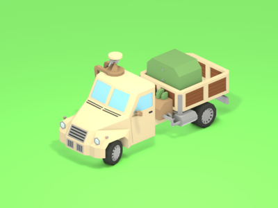 Lowpoly Van from Ex Machina/Hard Truck Apocalypse game