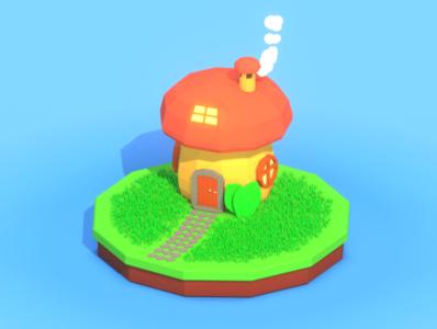 Lowpoly Mushroom house