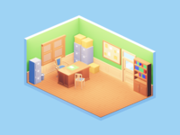Lowpoly office
