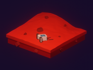 Lowpoly unknown planet unknown bot robot planet unknown planet illustration render blender3d isometric art b3d lowpoly blender 3d