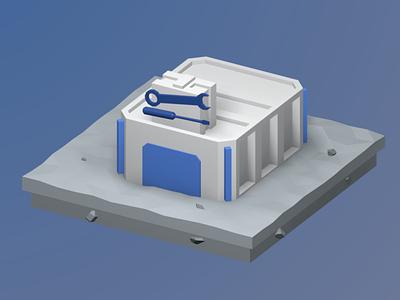 Order for the site №2, illustration 2 building illustration render isometric art b3d lowpoly blender 3d
