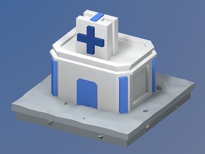 Order for the site №2, illustration 3 building illustration render isometric art b3d lowpoly blender 3d