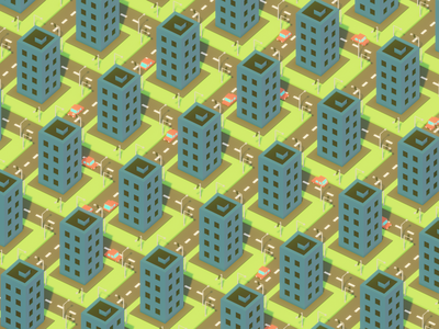 Pattern city cityscape city building illustration render isometric art b3d lowpoly blender 3d