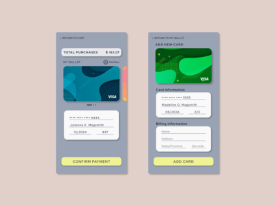 Daily UI Challenge #2: Credit Card Checkout