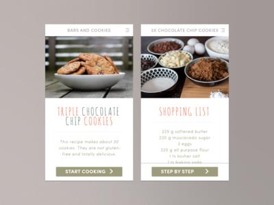 Daily UI #040 - Recipe app food cookies recipe dailyui 040 challenge daily sketch sketchapp