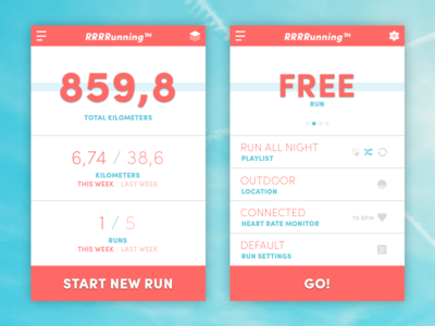 Daily UI #041 - Workout Tracker sketchapp sketch daily challenge 041 dailyui run training workout tracker app running workout