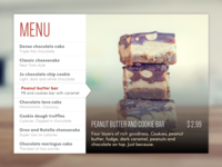 Daily UI #043 - Food/Drink Menu
