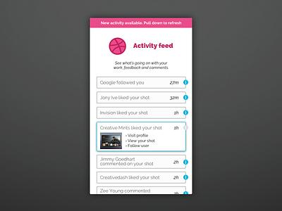 Daily UI #047 - Activity Feed sketchapp sketch daily challenge 047 dailyui activity feed app feed activity dribbble
