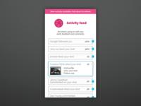 Daily UI #047 - Activity Feed