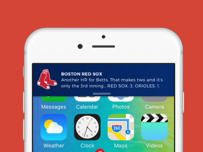 Daily UI #049 - Notifications sketchapp sketch daily challenge 049 dailyui alert baseball red sox notifications notification ios