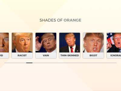 Daily UI #060 - Color Picker orange trump picker color picker color sketchpad sketch daily challenge 060 dailyui