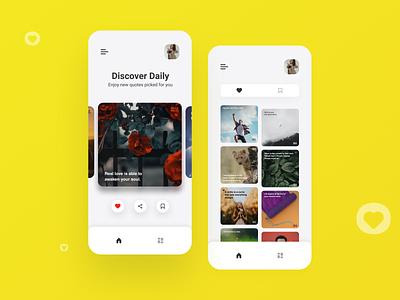 Mindmello - Quotes App app quotes app design uiux appuidesign design ui