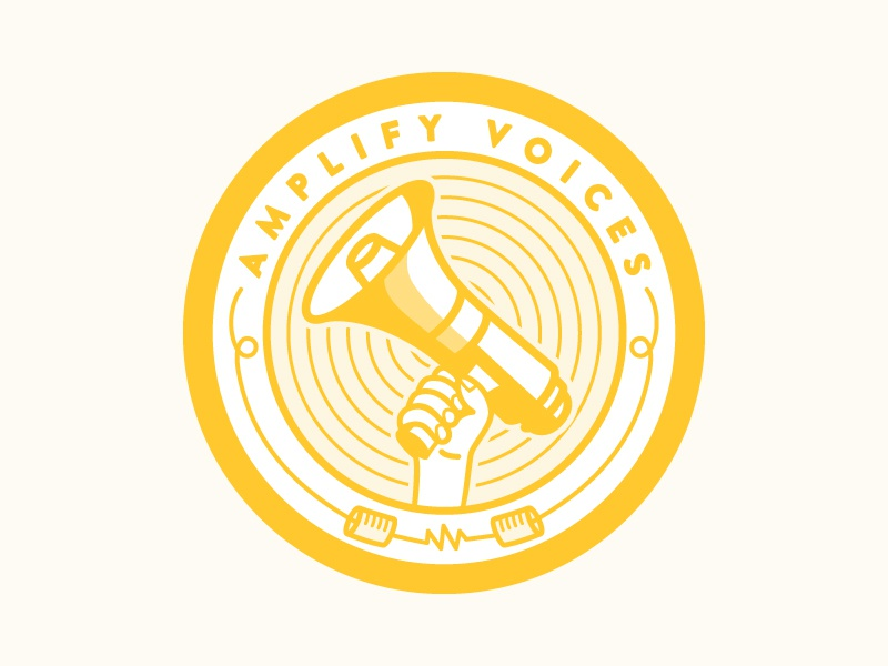 Amplify voices badge