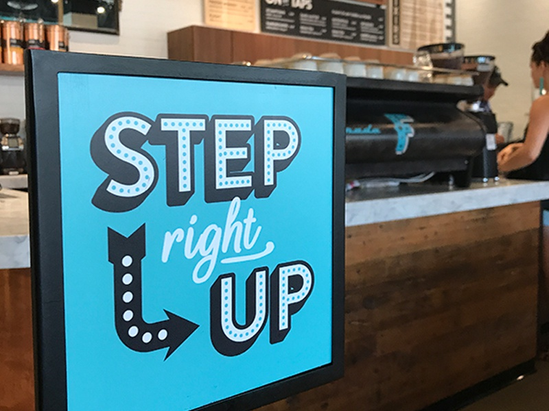 Step Right Up chicago fairground fair stanchion cafe