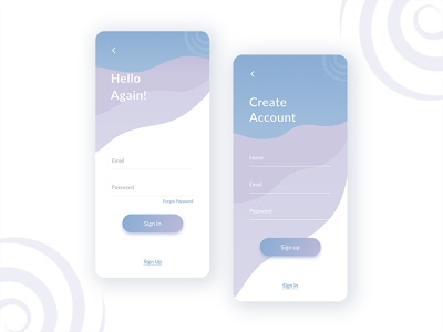 Sign Up - Hush | Conquer Your Anxiety page product design sign in signup ux user experience ux design mobile clean app design app ui  ux ui design ui product interface design concept daily ui dailyui