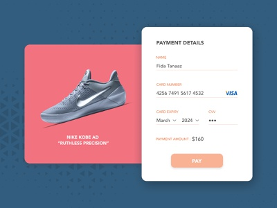Credit Card Checkout - UI Design credit card checkout payment form daily ui 002 dailyui user inteface user experience user experience design minimal card checkout payment clean product design ui  ux ui ui design product interface design concept