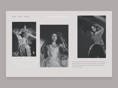 Greydation - Photography Website web design editorial neutral photograhy website webpage userinterface daily ui 003 clean landingpage homepage dailyui product design ui  ux ui ui design product interface design concept