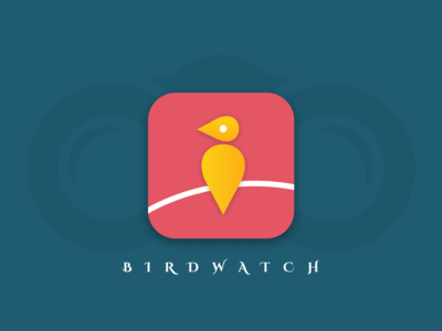 App Icon Design for BIRDWATCH challenge daily ui 005 user experience shapes geometry abstract colourful minimal bird app clean dailyui product design ui  ux ui design ui product interface design concept