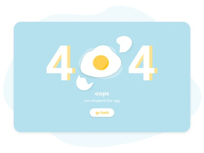 404 Page Design blue webdesign 404 page illustration challenge error 404 product design daily ui 008 fun minimal user experience clean dailyui ui  ux ui ui design product interface design concept