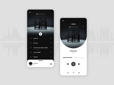 Music Player UI artist album minimal user experience app design app daily ui 009 music player music app music ui  ux ui challenge clean dailyui ui design product interface design concept