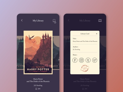 Social Share Concept 📙 reading app library card library daily ui 010 social share book sharing socialmedia social abstract product design ui  ux user experience dailyui ui design ui product interface design concept