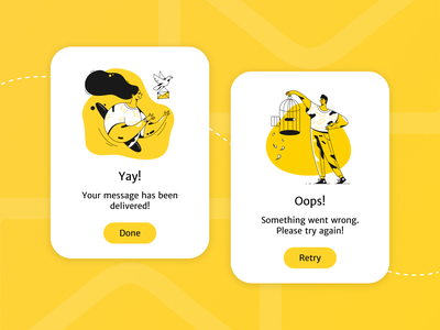 Flash Message ⚡️ mobile app design app design mobile flash daily ui 011 illustration flash message message yellow user experience clean product design dailyui ui  ux ui ui design product interface design concept
