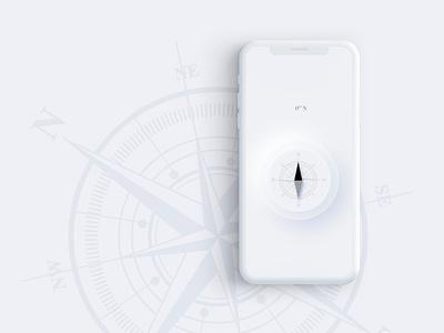 Compass Soft UI Concept product design product art monochrome soft compass app ui  ux ui design design concept ui interface