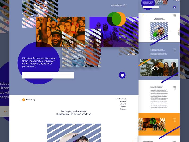 Audible Activate Caring V1 website stripe ux ui line landing people hr human resources