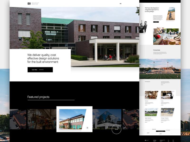 IDI Live angles website ux ui architect engineering portfolio architecture