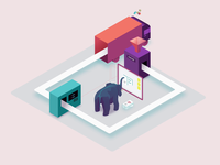 Pachyderm - Data Lineage gsap ai datascience data svg isometric website saas motion animation