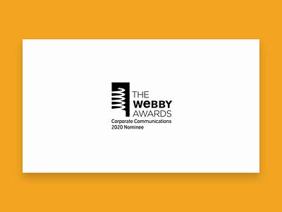 Webby Nominee awards audio website corporate ux ui