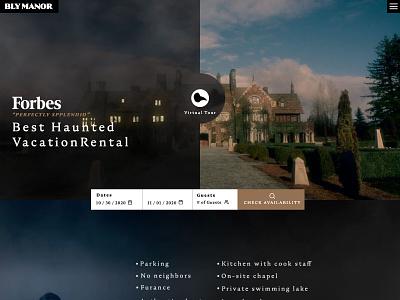 Bly Manor - Mocktober halloween ux ui landing mocktober rental vacation
