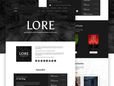 Lore - Mocktober landing page shop e-commerce ecommerce landing audiobooks mocktober audio