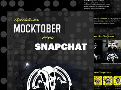 Mocktober Snapchat halloween landing snapchat filter snapchat lens snapchat mocktober